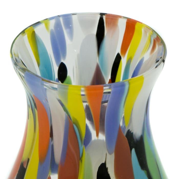 Novica Impressionist Spring Small Art Glass Bud Vase