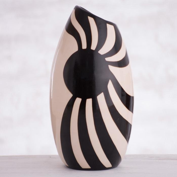 Novica Chulucanas Ancestry Ceramic Decorative Vase