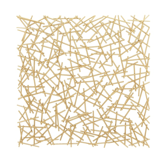 Contemporary Abstract  Gold Metal Wall Decor