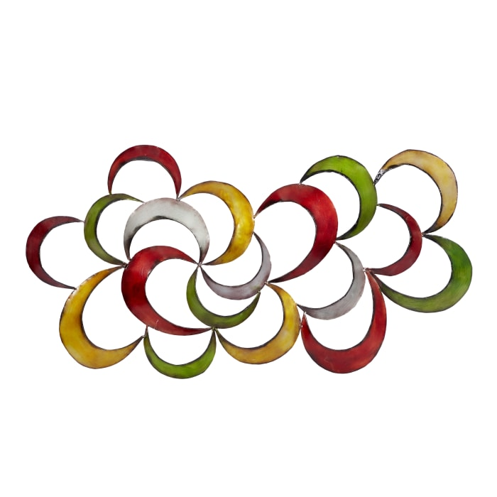Abstract Multi Colored Metal Wall Decor