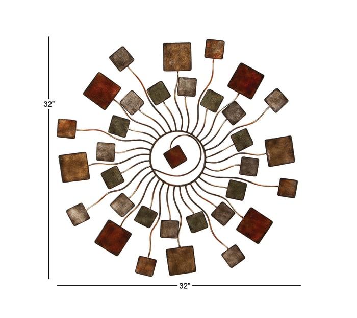 Modern Abstract  Brown Metal Wall Decor