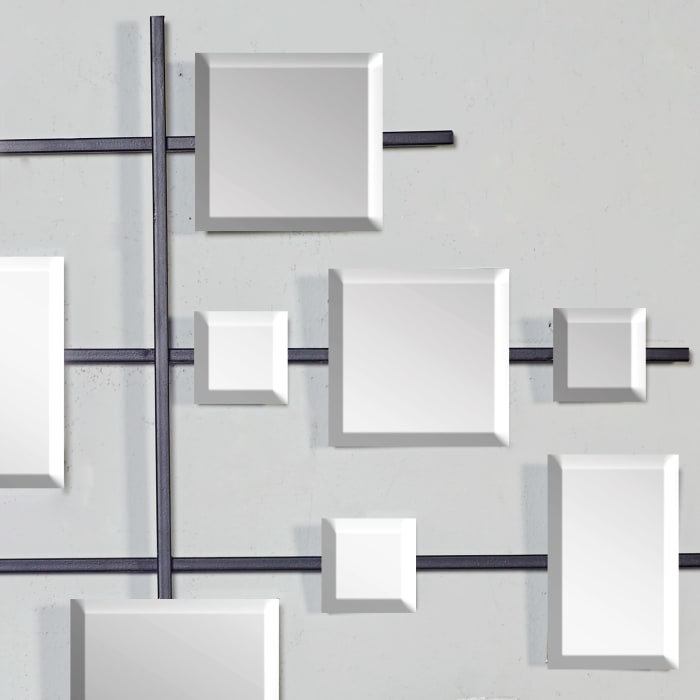 Glam Abstract Clear  Metal Wall Decor