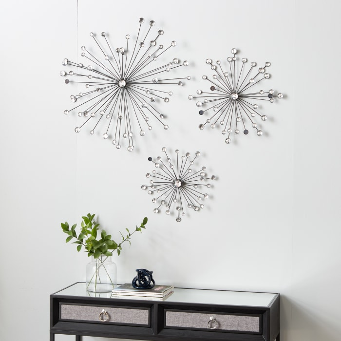 Glam  Clear Acrylic Set of 3 Wall Decors