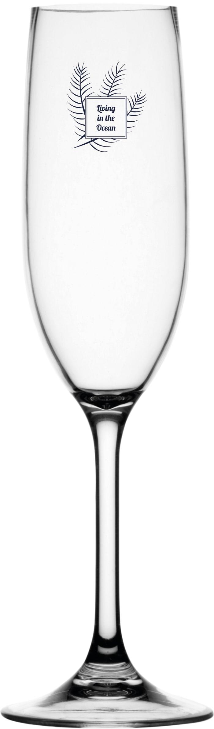 Living Non-Slip Set of 6  Champagne Glasses