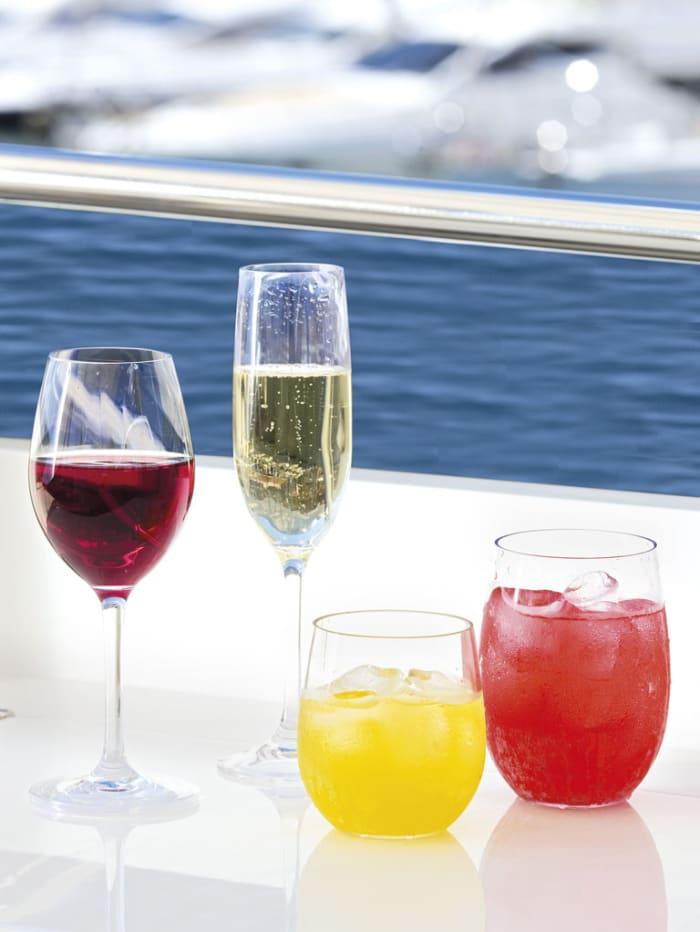Non-Slip Clear Set of 6 Beverage Glasses