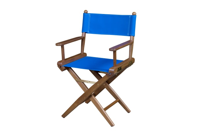 Teak Director's Chair with Pacific Blue Seat Covers