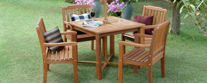 Teak Garden Chair with Arms