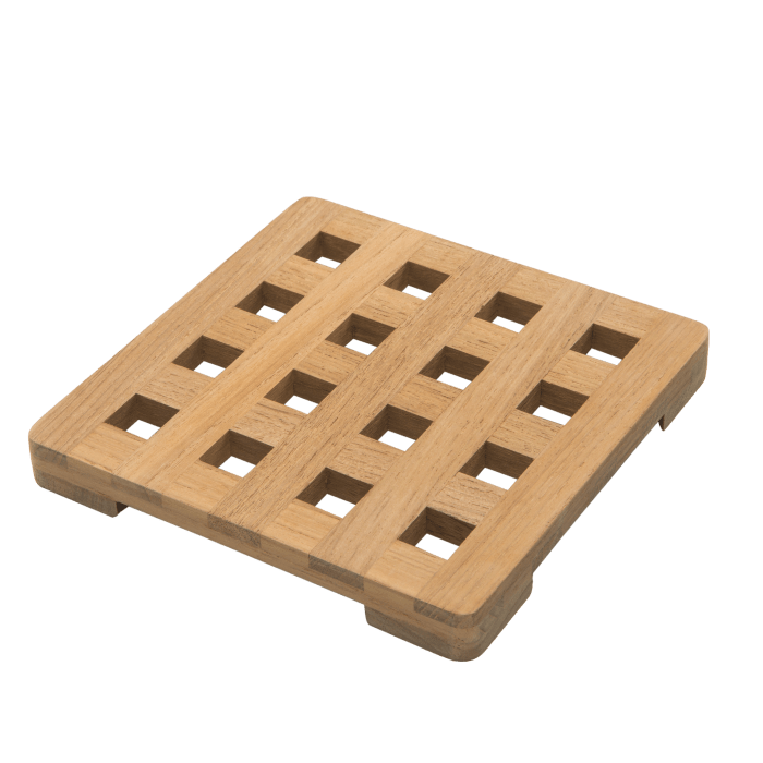 Teak Small Square Trivet