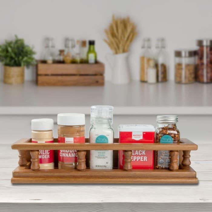 Teak Small Spice Rack