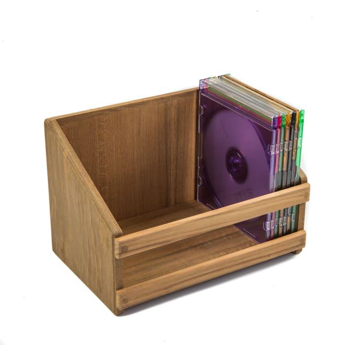 Teak CD and DVD Rack