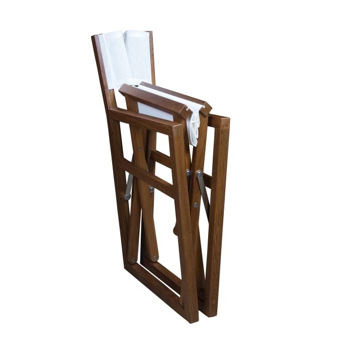 Teak Director's Chair with Batyline Fabric