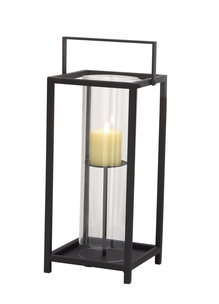 Black Iron Contemporary Candlestick Holders