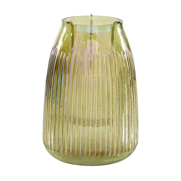 Multi Colored Glass Contemporary Candle Holder