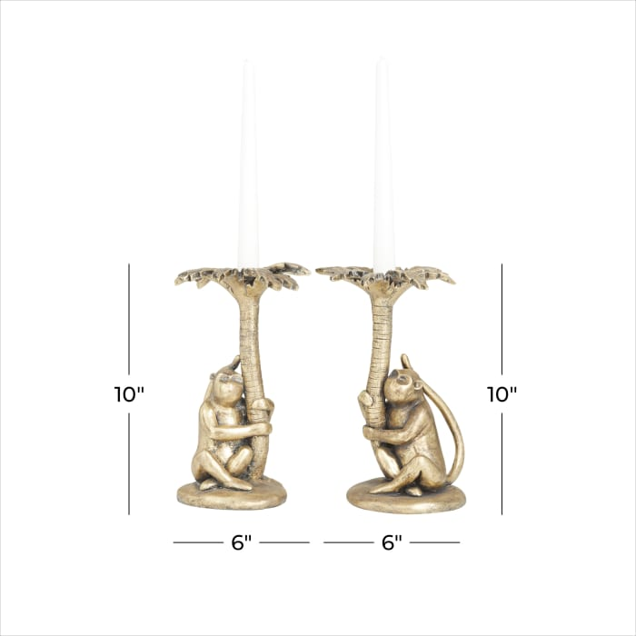 Gold Polystone Bohemian Candle holders