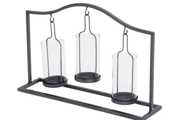 Black Iron Farmhouse Candlestick Holders