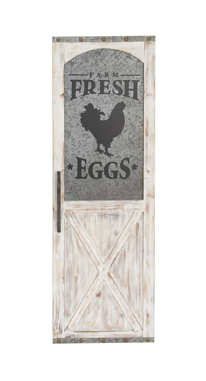 Farmhouse Black Farm Fresh Eggs Wood Wall Decor