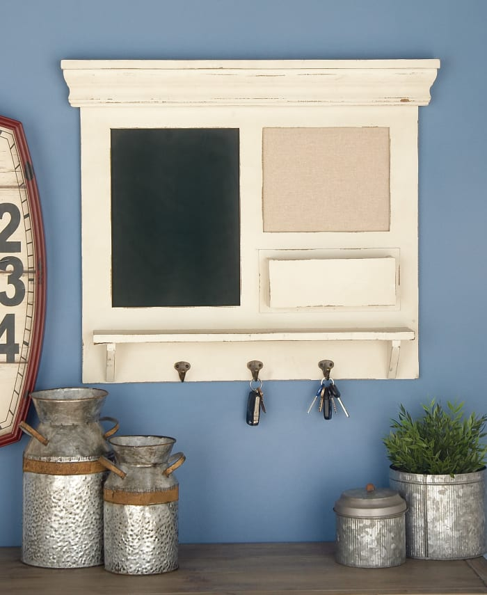 Farmhouse Abstract White  Wood Wall Decor