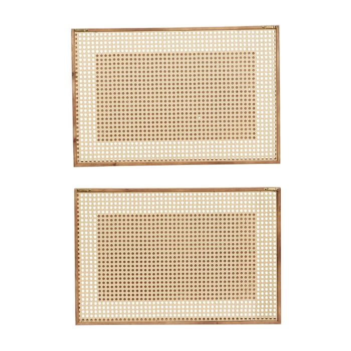Farmhouse Brown Wood Set of 2  Wall Decors