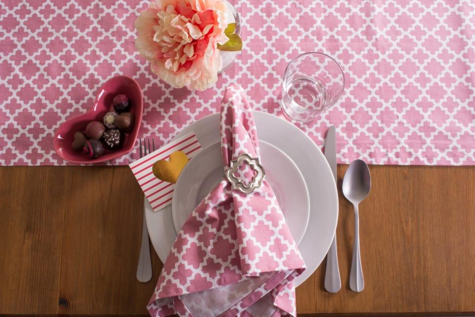 Pink Rose Geometric 14X108