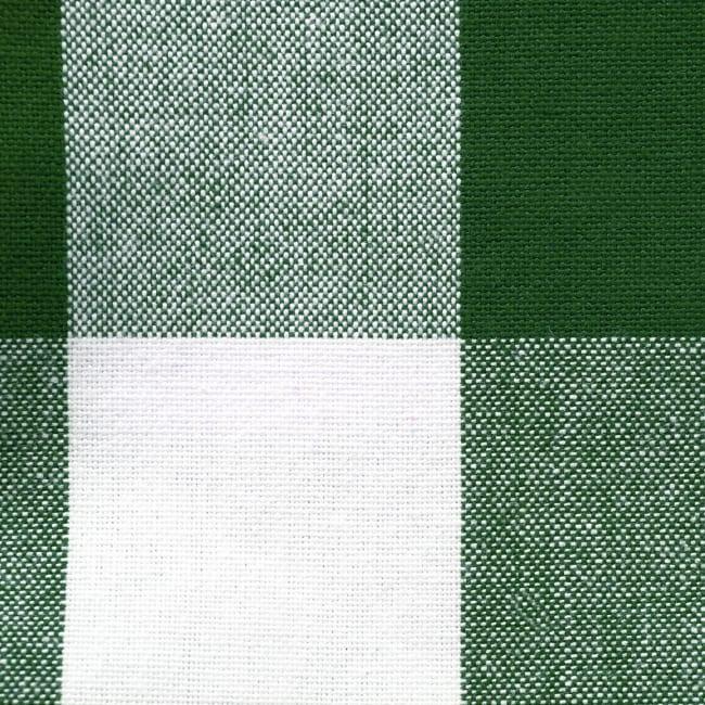 Picnic Plaid Green Cotton Tablecloth 60x120