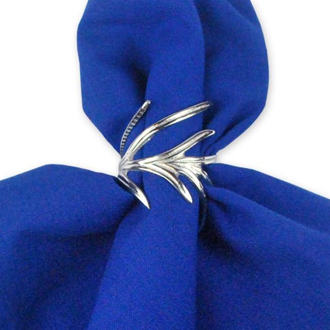 Silver Branch Napkin Ring Set
