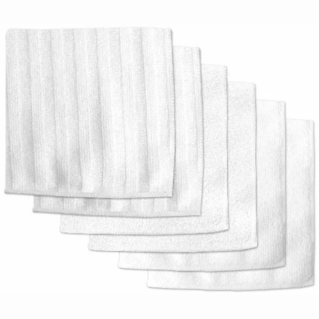 White Microfiber Scrub Set