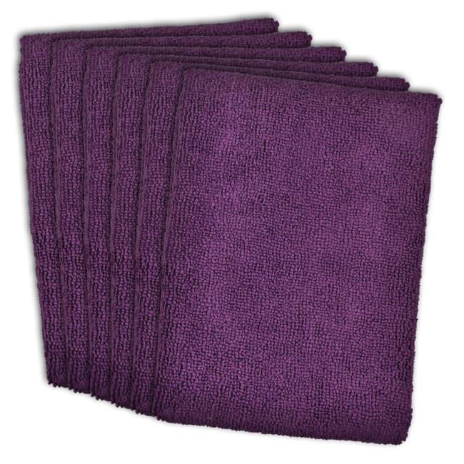 Purple Microfiber Dishtowel Set