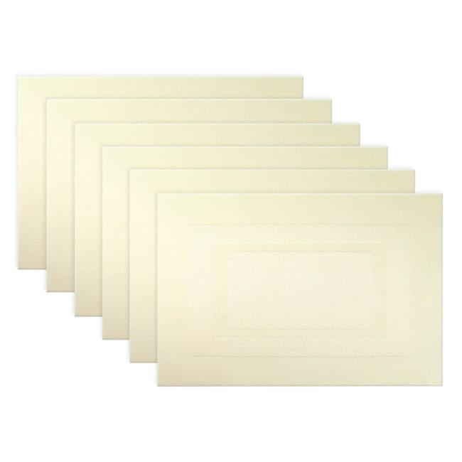Double Border Natural Placemats Set of 6