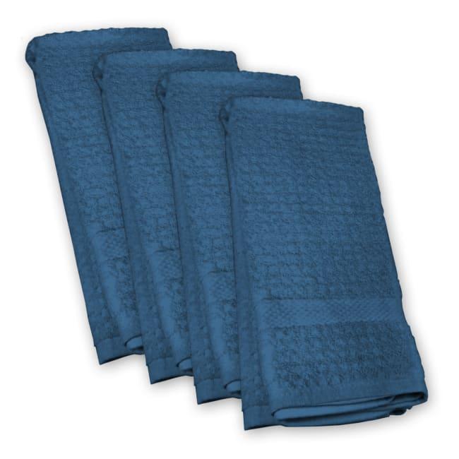 Blue Waffle Dish Towel Set of 4