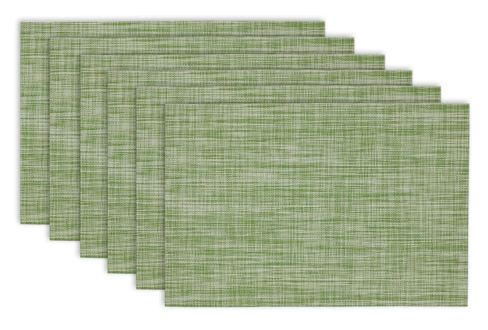 Fig Green Tweed Placemats Set of 6