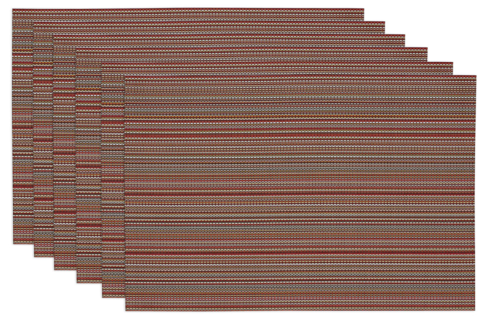 Tango Red Striped Placemats Set of 6