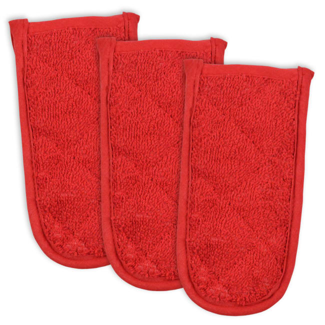 Red Terry Pan Handle Set of 3