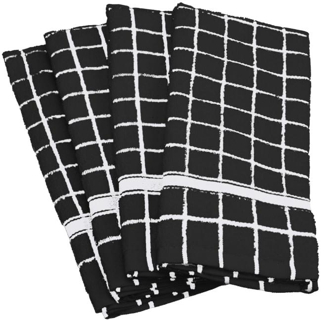 Black Tiled Dish Towel