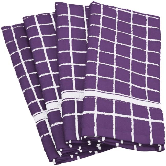 Purple Tiled Dish Towel
