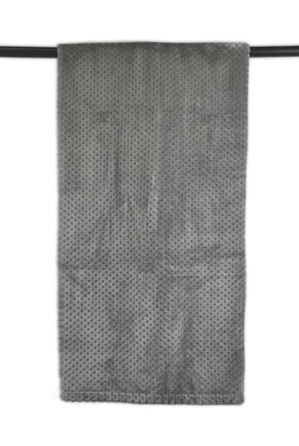 Gray Waffle Jacquard Fleece Throw Blanket