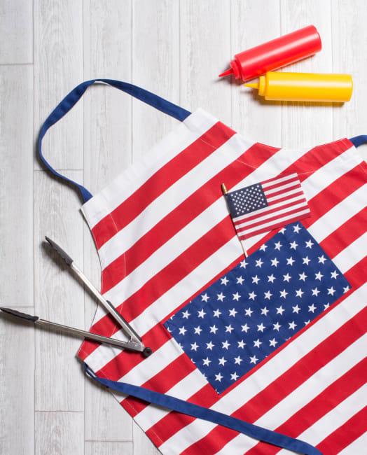 Patriotic Stars & Stripes Apron
