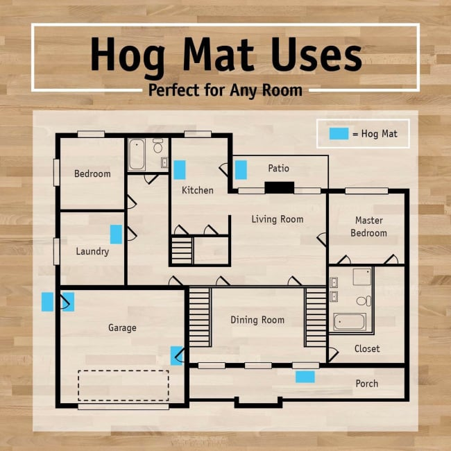Dark Brown Moose Hog Mat 2'5