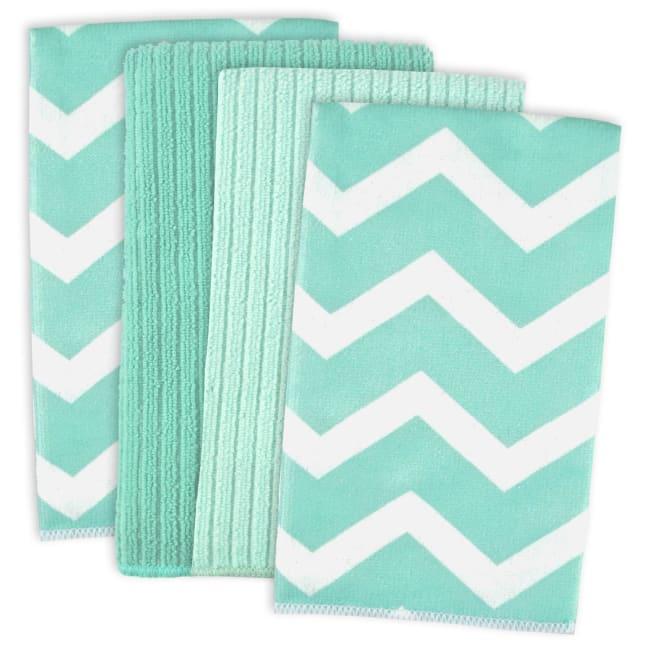 Teal Microfiber Chevron Dish Towel