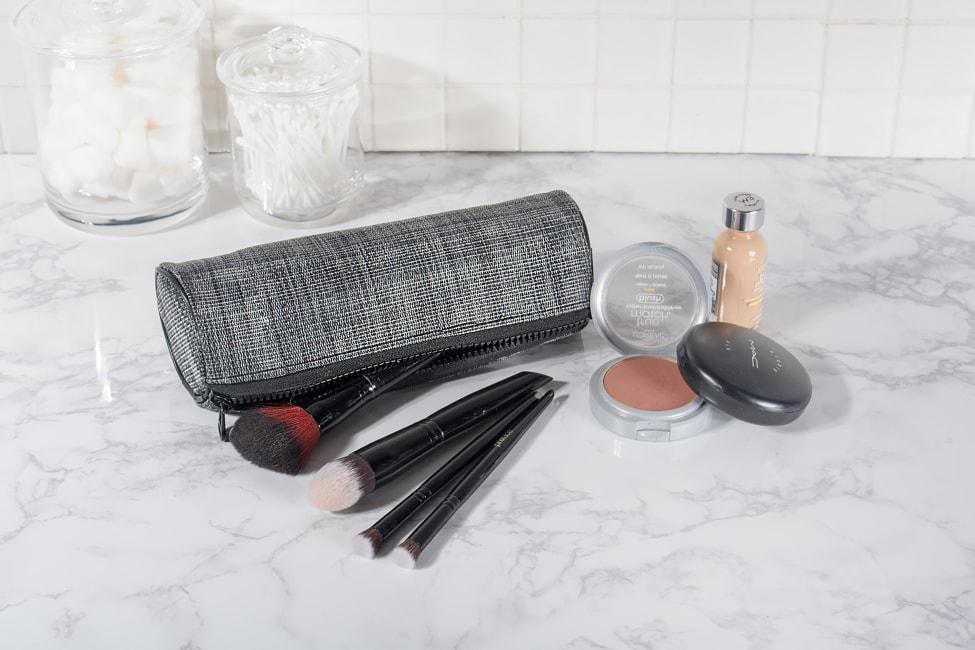 Modern Slim Black Cosmetic Bag