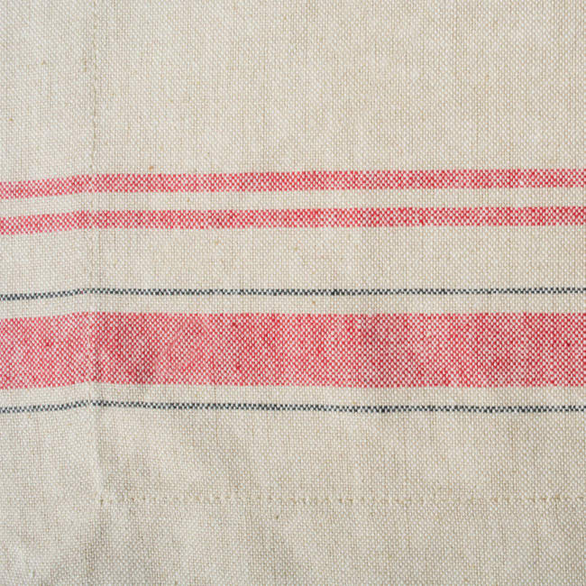 Red French Striped Placemats Set of 6