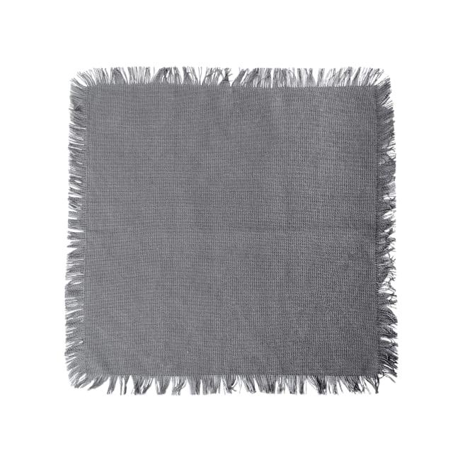 Gray Checked Fringe Dishcloth Set