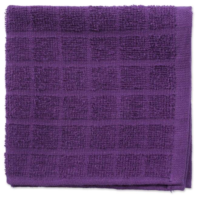 Purple Window Pane Dishcloth Set