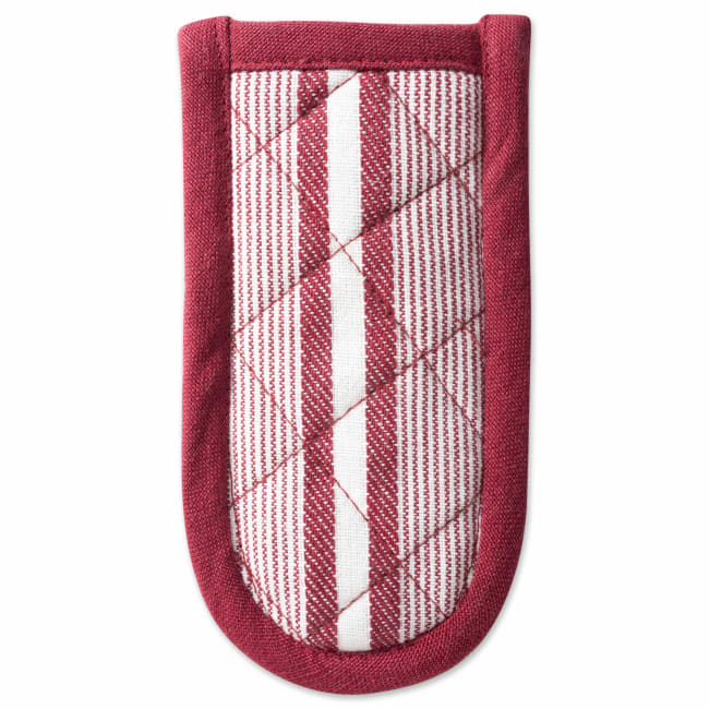Stripe Brick Red Pan Handle Set of 3