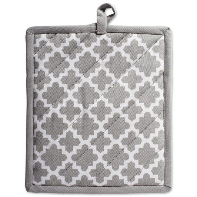 Geometric Gray Pot Holder Set