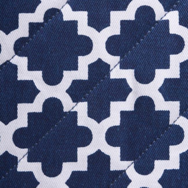 Geometric Blue Panhandle Set of 3
