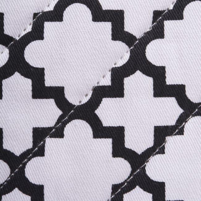 Geometric White Pot Holder Set