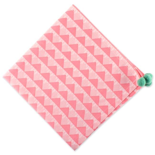 Two-Toned Diamond Napkin Set 6