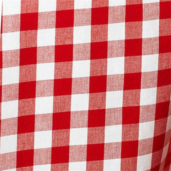 Grid Red & White 84