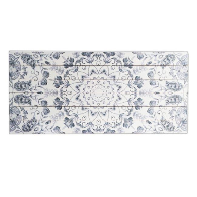 Gray Medallion Planked Wood Pattern Art Print