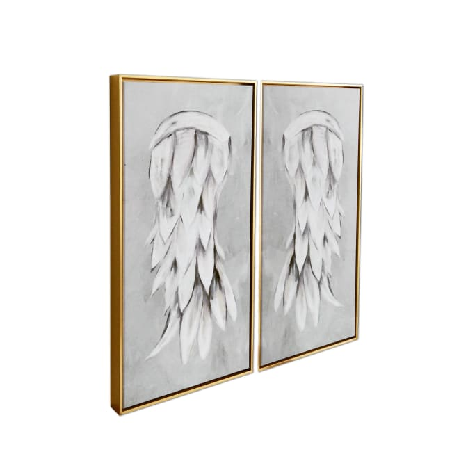 Angel Wings 2 Piece Floating Canvas Art Print